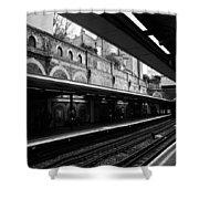 London Underground Station Shower Curtain