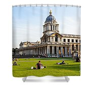 London University Greenwich Shower Curtain