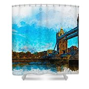 London Unveiled Shower Curtain