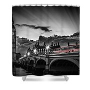 London Westminster Bridge At Sunset Shower Curtain