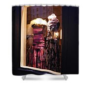 London Window By Night Shower Curtain