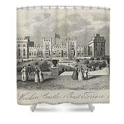 London Windsor Castle East Terrace, The Queen's Private Apartments Shower Curtain