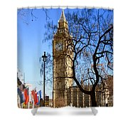 London's Big Ben Shower Curtain