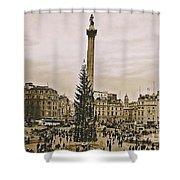 London's Trafalgar Square Shower Curtain