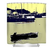 Lone Boat  Shower Curtain