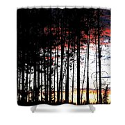 Lone Butte Sunset Shower Curtain