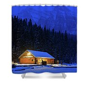 Lone Cabin In The Rockies Shower Curtain