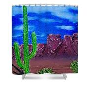 Lone Cactus Shower Curtain