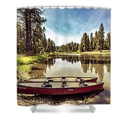 Lone Canoes, Winchester Lake Shower Curtain