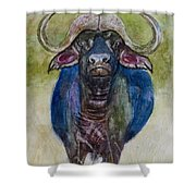 Lone Cape Buffalo Shower Curtain
