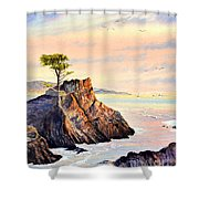 Lone Cypress Tree Pebble Beach Shower Curtain