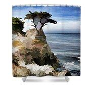 Lone Cypress Tree Pebble Beach  Shower Curtain