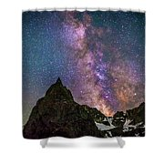 Lone Eagle Peak Dancing In The Milky Way Shower Curtain