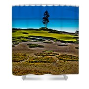 Lone Fir - Hole #15 At Chambers Bay Shower Curtain