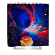 Lone Moon Shower Curtain
