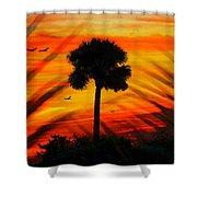 Lone Palm Florida Shower Curtain