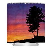 Lone Pine Sunset Shower Curtain