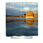 Lone Rock Glow Shower Curtain