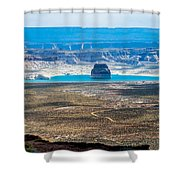 Lone Rock In Lake Powell Utah Shower Curtain
