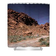 Lone Rock Road Overton Nevada  Shower Curtain