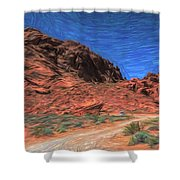 Lone Rock Road Paint  Shower Curtain