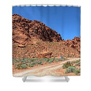 Lone Rock Valley Of Fire  Shower Curtain