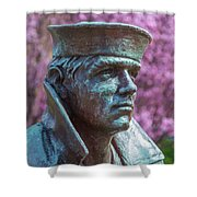 Lone Sailor In Color Shower Curtain