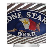 Lone Star Beer Shower Curtain
