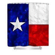 Lone Star Stained Glass Shower Curtain