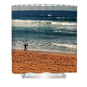 Lone Surfer Shower Curtain