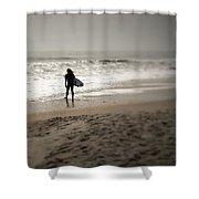 Lone Surfer II Shower Curtain