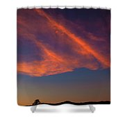 Lone Tree And Twilight Clouds Shower Curtain