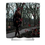 Lonely Autumn Shower Curtain