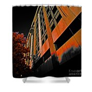 Lonely Balkony Infrared Color 80 Shower Curtain