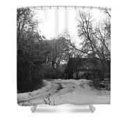 Lonely Barn Shower Curtain
