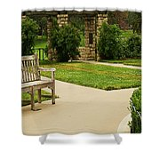 Lonely Bench Shower Curtain