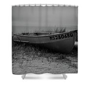 Lonely Boat Shower Curtain