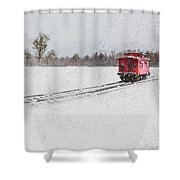 Lonely Caboose Shower Curtain