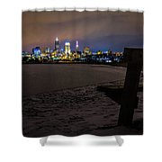 Lonely City Shower Curtain