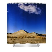 Lonely Cloud Over Sand Dunes At Bruneau Dunes State Park Idaho Usa Shower Curtain