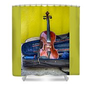 Lonely Fiddle Shower Curtain