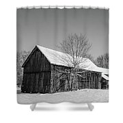 Lonely Grey Barn Shower Curtain