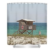 Lonely Guard Shack Shower Curtain
