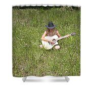 Lonely Guitar Two Shower Curtain
