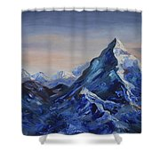 Lonely Mountain Cliff Shower Curtain