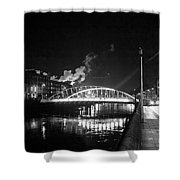 Lonely Night Bw Shower Curtain