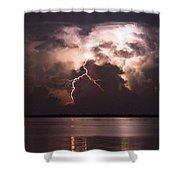 Lonely Night Shower Curtain