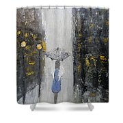 Lonely On A Street Shower Curtain