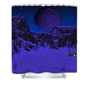 Lonely Outpost Shower Curtain