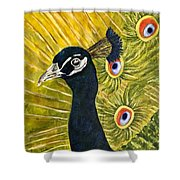 Lonely Peacock Shower Curtain